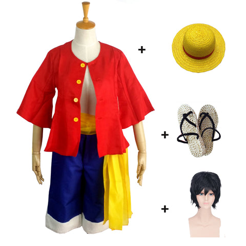 One piece Monkey D. Luffy Cosplay Costume Halloween Costume