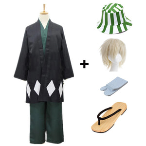 Anime Bleach Kisuke Urahara Cosplay Costume Full Set