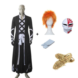 Anime Bleach Kurosaki Ichigo Fullbring New Bnakai Cosplay Costume Full Set With Props