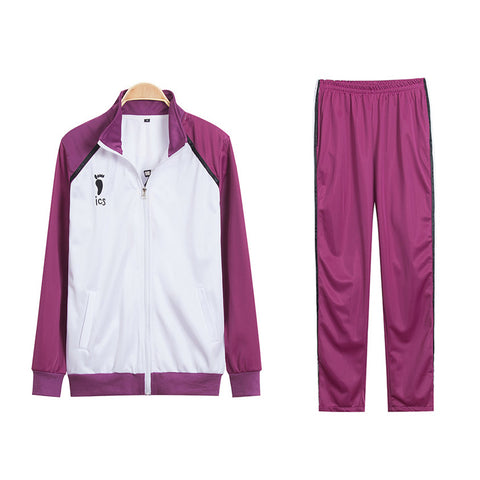 Anime Haikyuu Shiratorizawa Academy Volleyball Team  Cosplay Costume Sportswear Jacket and Sweatpants Suit