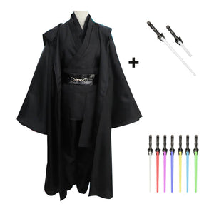 Star Wars Jedi Anakin Skywalker Sith Cosplay Costume With Lightsaber Halloween Costume