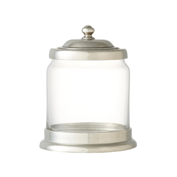 PEWTER GLASS JAR S