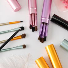 Load image into Gallery viewer, 5pcs Travel Portable Mini Eye Makeup Brushes Set Smudge Eyeshadow Eyeliner Eyebrow Brush Lip Make Up Brush kit Professional