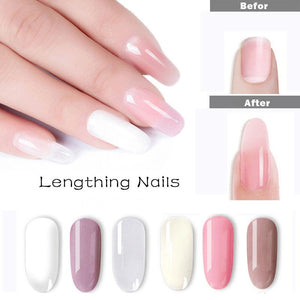 Polygel kit 6 Colors Builder Poly Gel Fast Dry Nail Art Design Nail Extension Natural Gel Jelly Acrylic Gel Set For Manicure - AandA
