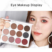 Load image into Gallery viewer, 1 Box of 12 Color Marble Eyeshadow Palette and Eye Brush