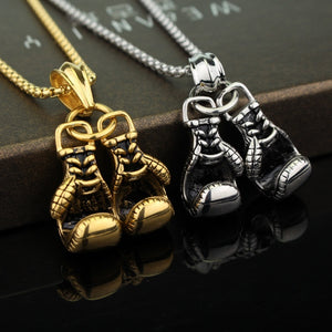 1 Pcs Men's / Women's Boxing Gloves Necklace - AandA