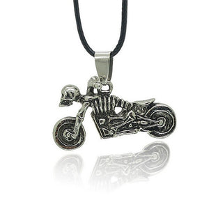1 Pcs Men's / Women's Skull Riding Motorcycle Pendant Necklace