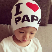 Load image into Gallery viewer, 1Pcs Baby / Kids Cotton Cute Hat I Love MAMA / I Love PAPA