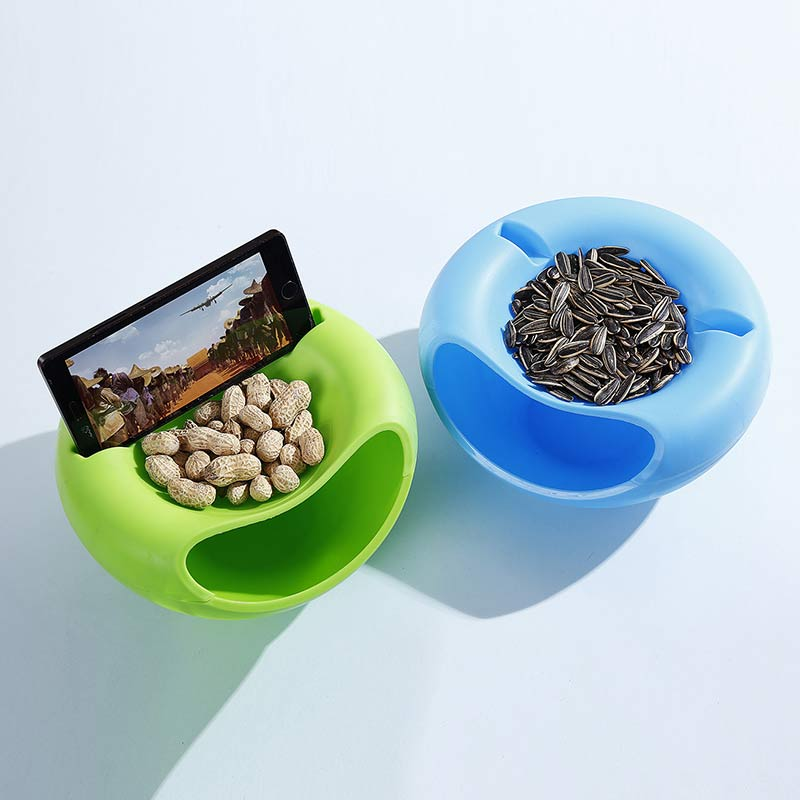 Snacks Plate Mobile Phone Holder