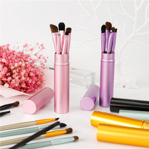 5pcs Travel Portable Mini Eye Makeup Brushes Set Smudge Eyeshadow Eyeliner Eyebrow Brush Lip Make Up Brush kit Professional - AandA