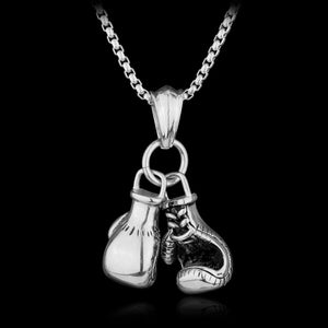 silver 1 Pcs Men's / Women's Boxing Gloves Necklace - AandA