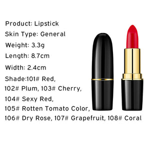 1 Pcs Creamy Lipstick Moisturizing Lip Gloss Long Wearing Makeup - AandA