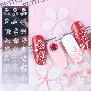 1pcs Nail Art Stamp Nail Stamping Template Flower Geometry Animals DIY Nail Designs Manicure Image Plate Stencil