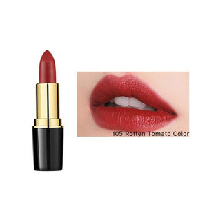 105-Rotten Tomato Color 1 Pcs Creamy Lipstick Moisturizing Lip Gloss Long Wearing Makeup - AandA