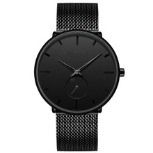 Load image into Gallery viewer, 2019 New Simple Design Waterproof Small Dial Men Watches Quartz relogio masculino Stainless Steel Mesh