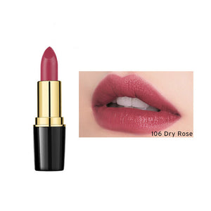 106-Dry Rose 1 Pcs Creamy Lipstick Moisturizing Lip Gloss Long Wearing Makeup - AandA