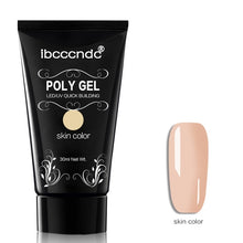 Load image into Gallery viewer, 30g Polygel Nail Acrylic Poly Gel Pink White Clear Crystal UV LED Builder Gel Tips Enhancement Slip Solution Quick Extension Gel