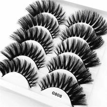 Load image into Gallery viewer, 5 Pairs/Box 3D Mink Eyelashes Natural Long Eyelash Extension Lashes Makeup