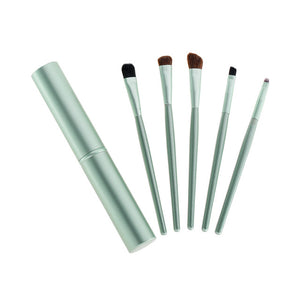 green 5pcs Travel Portable Mini Eye Makeup Brushes Set Smudge Eyeshadow Eyeliner Eyebrow Brush Lip Make Up Brush kit Professional - AandA