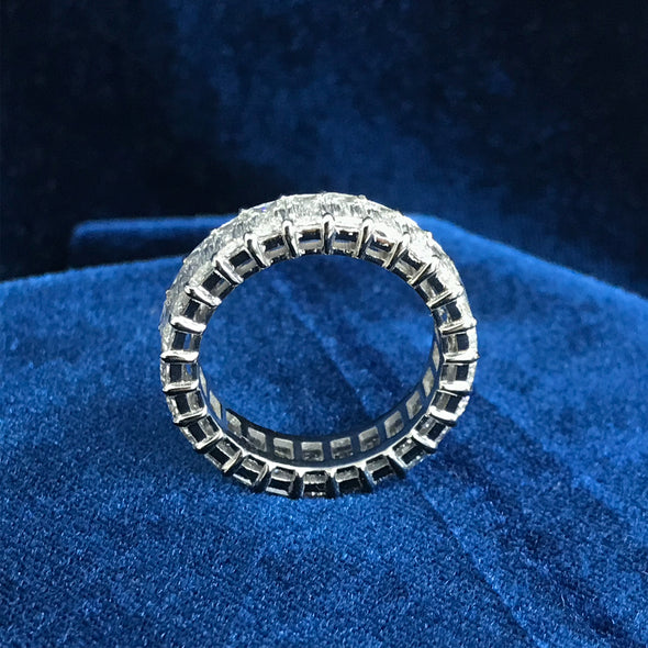 4.5 CT. T.W. Baguette Cut Lab-Created Sapphire Wedding Band in 925 Sterling Silver