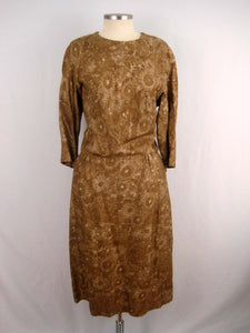 1960s Alper Schwartz Gold Silk Blouson Dress