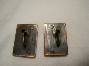 1950s Mid Century Modernist Chenet Copper Earrings Screw Back Winifred Mason Chenet