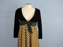 Load image into Gallery viewer, 1960s Black Polka Dot Velvet Gown Velvet Burnout Arnold Scaasi Couture