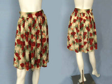 Load image into Gallery viewer, 1940s Cabin Skirt Pine Cone Barkcloth Holiday Party Skirt