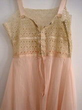 Load image into Gallery viewer, 1920s Pink Silk Crepe Step-In Chemise Tenerife Lace Handmade Unworn & UNUSUAL
