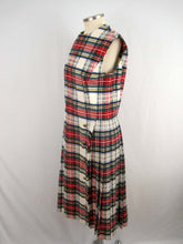 Load image into Gallery viewer, 1960s Abe Schrader Plaid Kilt Dress / Small Sleeveless Dress
