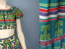 Load image into Gallery viewer, 1940s Resort Wear Crop Top & Maxi Skirt Beach Set DEADSTOCK