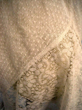 Load image into Gallery viewer, DEADSTOCK 1920s White Swiss Dot Cotton Net Lace and French Cotton Lace Step-In Teddy