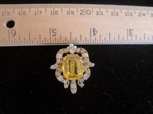Load image into Gallery viewer, Antique Victorian Edwardian Topaz Seed Pearl Pendant Brooch