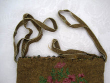 Load image into Gallery viewer, 1920s Beaded Flapper Purse Micro Bead Reticule Pink Roses