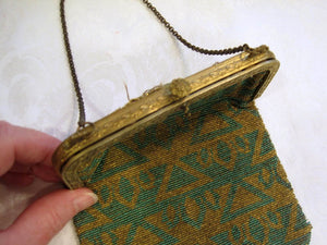 1920s Art Deco Egyptian Revival Beaded Flapper Purse