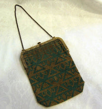 Load image into Gallery viewer, 1920s Art Deco Egyptian Revival Micro Beaded Flapper Purse