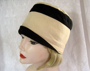 1920s Silk Cloche Hat