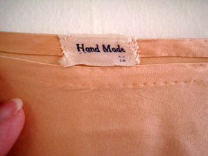 1920s Flapper Lingerie Peach Satin Silk Tap Pants Alencon Lace