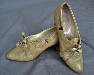 1920s Leather Oxford Brogue Shoes Pumps Lothrops-Farnham Co.
