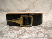 Load image into Gallery viewer, 1940s 50s Garay Black Leather Belt Hook Buckle