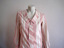 Load image into Gallery viewer, 1950s Peppermint Stripe Day Dress Betty Barclay