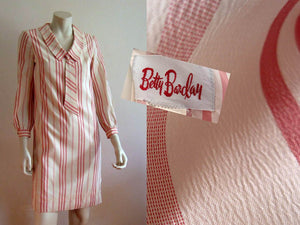 1950s Peppermint Stripe Day Dress Betty Barclay