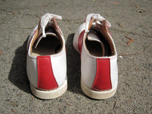 Load image into Gallery viewer, 1950s Leather Saddle Shoes Red White Goodyear Welting