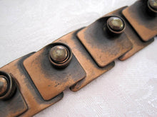 Load image into Gallery viewer, 1940s Rebajes Copper Bracelet Modernist Jewelry