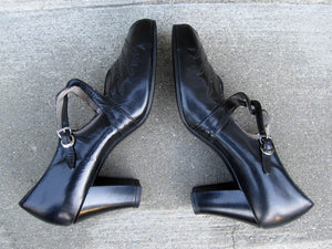 1930s Mary Jane Shoes Peep Toe Enna Jettick