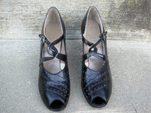 Load image into Gallery viewer, 1930s Mary Jane Shoes Peep Toe Enna Jettick