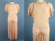 Load image into Gallery viewer, 1940s Light Pink Crepe Dress WWII Era Dance Dress