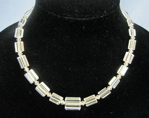 1920s Art Deco Necklace Hand Cut Trapezoid Rock Quartz Crystal Necklace