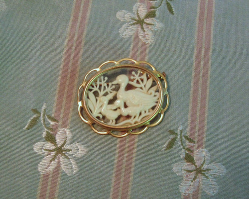 1920s Pin Brooch French Celluloid Ducks Silhouette Pin