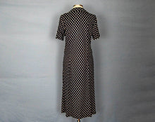 Load image into Gallery viewer, 1960s Shift Dress Navy Blue White Polka Dot